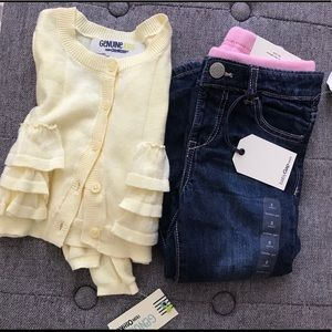 Jeans and cardigan set